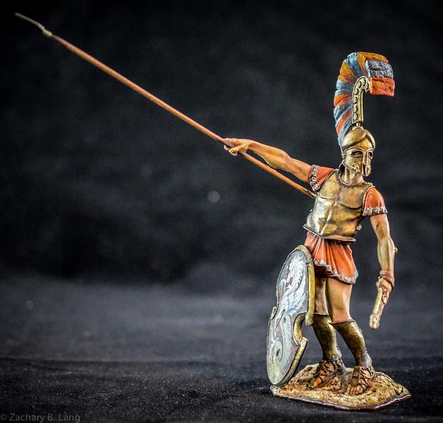 Greek Nobleman, Argiraspide, with Spear  90mm 1
