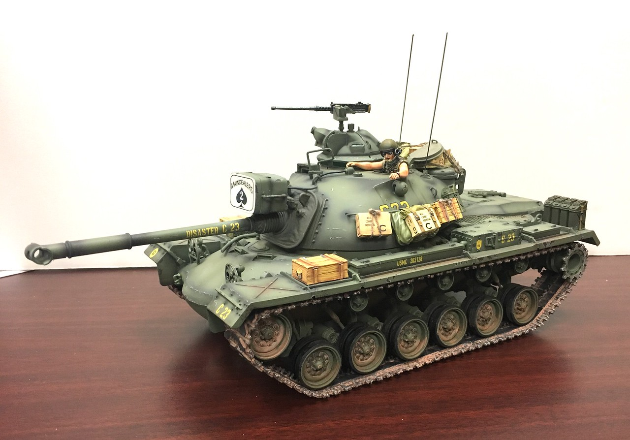 USMC M48A3 Patton Tank and Commander-Disaster 1st Tank Battalion-First Legion-VN028 img1