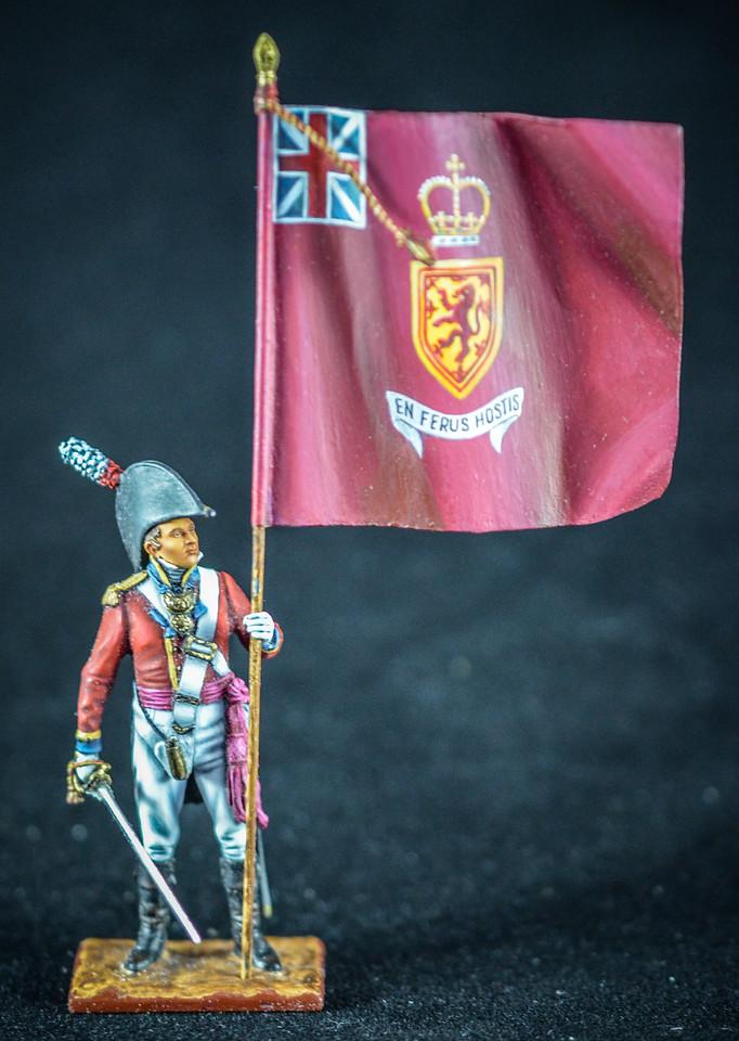 Capt  Robert Dalrymple w-Flag & Sword, 3rd Foot Guards 1