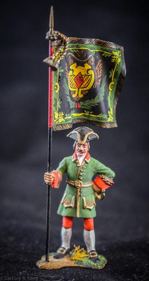 056 Fusilier Holding Flag - 1709