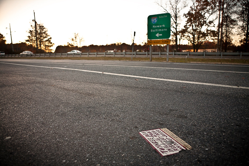 Another view of the Delaware rest area tile. This tile has been paved over.