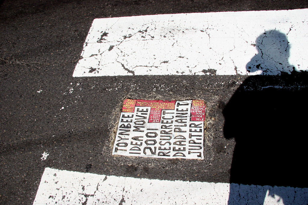 Toynbee tile at Cottman and Tooresdale in Northeast Philadelphia.