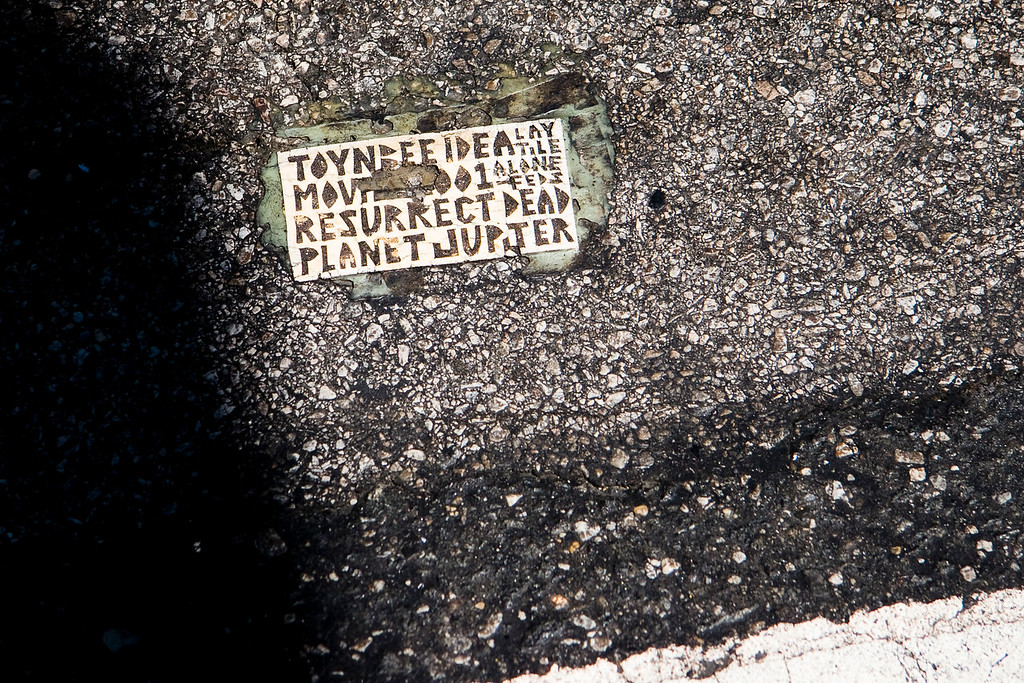 """Small """"index card"""" style tile in Philadelphia."""