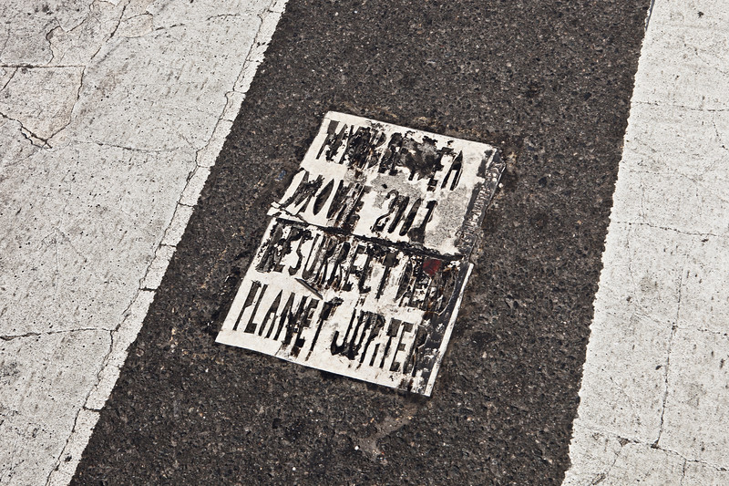 Broad and Erie Toynbee tile in Philadelphia.