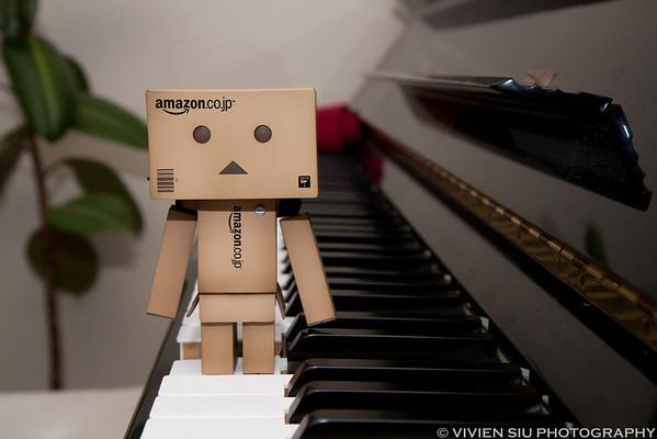 Danbo likes Piano!