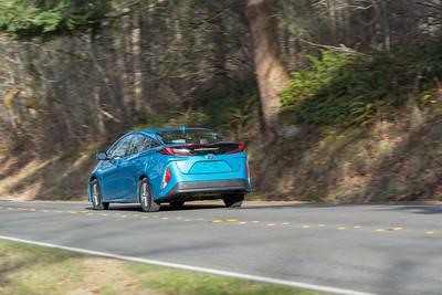 2017 Toyota Prius Prime Driving