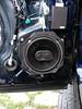 "Aftermarket speaker, speaker baffle, and speaker adapter bracket   from  <a href=""http://www.car-speaker-adapters.com/items.php?id=SAK036""> Car-Speaker-Adapters.com</a>   installed"