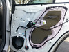 Rear door panel and OEM speaker removed