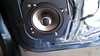 "Aftermarket speaker and    Speaker adapter plate  from  <a href=""http://www.car-speaker-adapters.com/items.php?id=SAK039""> Car-Speaker-Adapters.com</a>   installed on door."