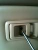 Removing door handle screw