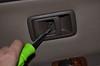 Door handle screw, to be removed