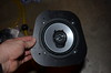 "Aftermarket speaker mounted to speaker adapter   from  <a href=""http://www.car-speaker-adapters.com/items.php?id=SAK039""> Car-Speaker-Adapters.com</a>"