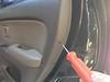 Removing door fastener