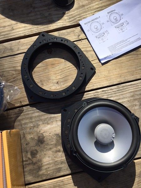 """Top: <br>  Speaker adapter purchased from <a href=""""http://car-speaker-adapters.com/items.php?id=SAK036""""> Car-Speaker-Adapters.com</a> <br> <br> Bottom:  <br> Aftermarket speaker and speaker adapter purchased from <a href=""""http://car-speaker-adapters.com/items.php?id=SAK036""""> Car-Speaker-Adapters.com</a>"""