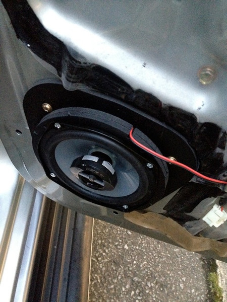 """Install 2x 1/4"""" speaker adaptors (total 1/2"""") to allow the speaker to clear the window.  <br /> You will need to purchase 3/4"""" screws separately since they are not supplied with the adaptors. <br /> *note, you must trim the inside of your door panel for everything to reassemble properly.  A box cutter works perfectly*"""