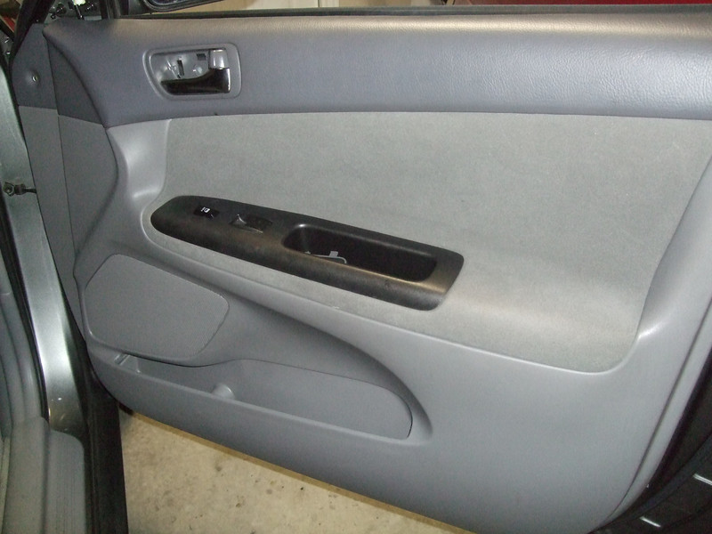 Door interior before speaker installation.