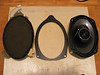 "Top view of factory speaker, speaker adapter ring from  <a href=""http://www.car-speaker-adapters.com/items.php?id=SAK007""> Car-Speaker-Adapters.com</a>  ,  and aftermarket speaker"