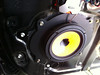 "Aftermarket speaker and speaker ring from   <a href=""http://www.car-speaker-adapters.com/items.php?id=SAK010""> Car-Speaker-Adapters.com</a>   mounted in vehicle"