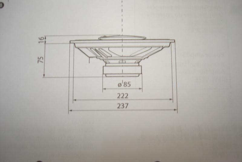 Sony XS-GTF6937 dimensions