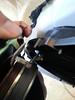 Removing factory speaker from factory speaker bracket