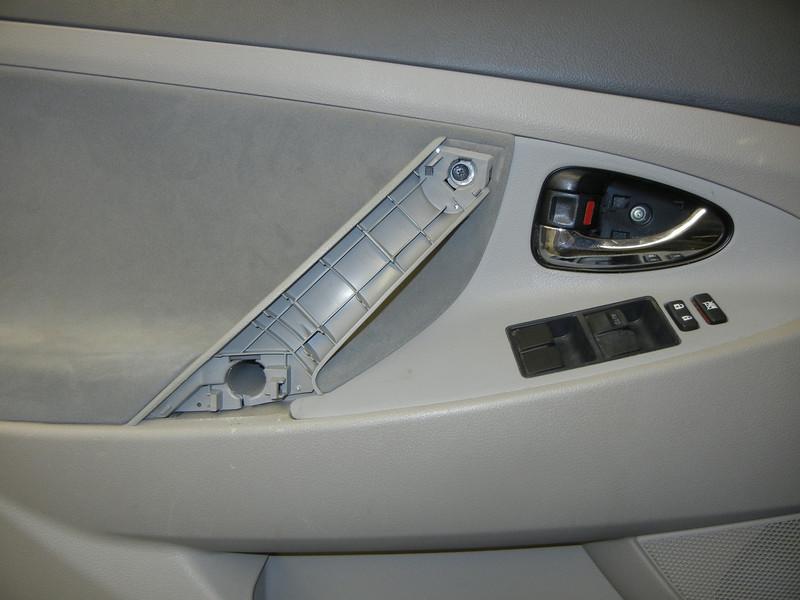 Driver side door trim removed
