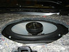 """Aftermarket speaker and  speaker adapter plate  from  <a href=""""http://www.car-speaker-adapters.com/items.php?id=SAK008""""> Car-Speaker-Adapters.com</a>  installed"""