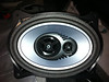 "JL Audio 6x9"" speaker mounted in speaker adapter (view 1)."