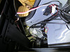 Unplug the rear shelf brake light wiring before fully removing the shelf.