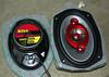"""Aftermarket speaker mounted to speaker adaptor plate  from  <a href=""""http://www.car-speaker-adapters.com/items.php?id=SAK007""""> Car-Speaker-Adapters.com</a>   .  Foam sealer applied."""