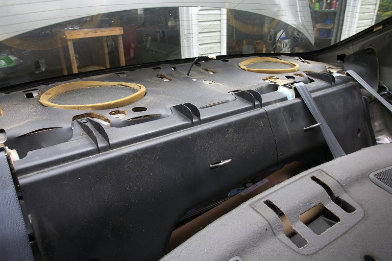 Rear deck panel removed