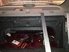 Rear seat folded down