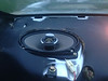"""Aftermarket speaker and speaker adapter     from  <a href=""""http://www.car-speaker-adapters.com/items.php?id=SAK008""""> Car-Speaker-Adapters.com</a>   installed in rear deck"""