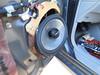 Aftermarket speakers detached from deteriorated MDF (medium density fiberboard) speaker adapters