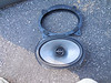 """Comparison: <br> Top:  Speaker adapter from  from  <a href=""""http://www.car-speaker-adapters.com/items.php?id=SAK010""""> Car-Speaker-Adapters.com</a>   <br> Bottom: Aftermarket speaker"""