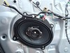 "Aftermarket speaker and speaker adapter   from  <a href=""http://www.car-speaker-adapters.com/items.php?id=SAK010""> Car-Speaker-Adapters.com</a>   installed on door"