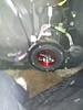 "Aftermarket speaker and speaker adapter plate  from  <a href=""http://www.car-speaker-adapters.com/items.php?id=SAK049""> Car-Speaker-Adapters.com</a>   installed on door"