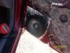 """Aftermarket 6 1/2"""" speaker installed."""