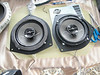 """Aftermarket speakers mounted to speaker adapter plates    from  <a href=""""http://www.car-speaker-adapters.com/items.php?id=SAK036""""> Car-Speaker-Adapters.com</a>"""