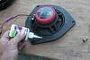 "Applying super glue as a thread locker to screws on aftermarket speaker and speaker adapter plate  from  <a href=""http://www.car-speaker-adapters.com/items.php?id=SAK036""> Car-Speaker-Adapters.com</a>"