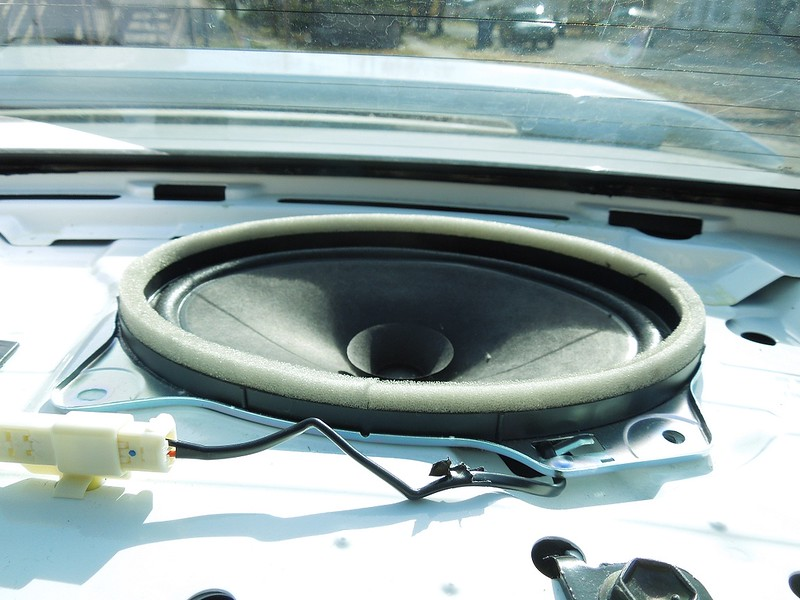 Left rear factory speaker