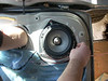 "Aftermarket speaker mounted to speaker adapter from   <a href=""http://www.car-speaker-adapters.com/items.php?id=SAK036""> Car-Speaker-Adapters.com</a>"