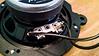 Wiring soldered to aftermarket speaker