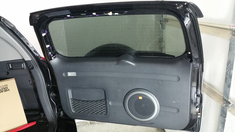 Rear gate panel and grill installed (JBL grill purchased from Toyota)