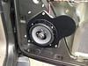 "Aftermarket speaker and speaker adapter bracket   from  <a href=""http://www.car-speaker-adapters.com/items.php?id=SAK098""> Car-Speaker-Adapters.com</a>   installed on door"