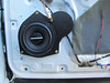 "Speaker adaptor bracket   from  <a href=""http://www.car-speaker-adapters.com/items.php?id=SAK098""> Car-Speaker-Adapters.com</a>   installed on door"