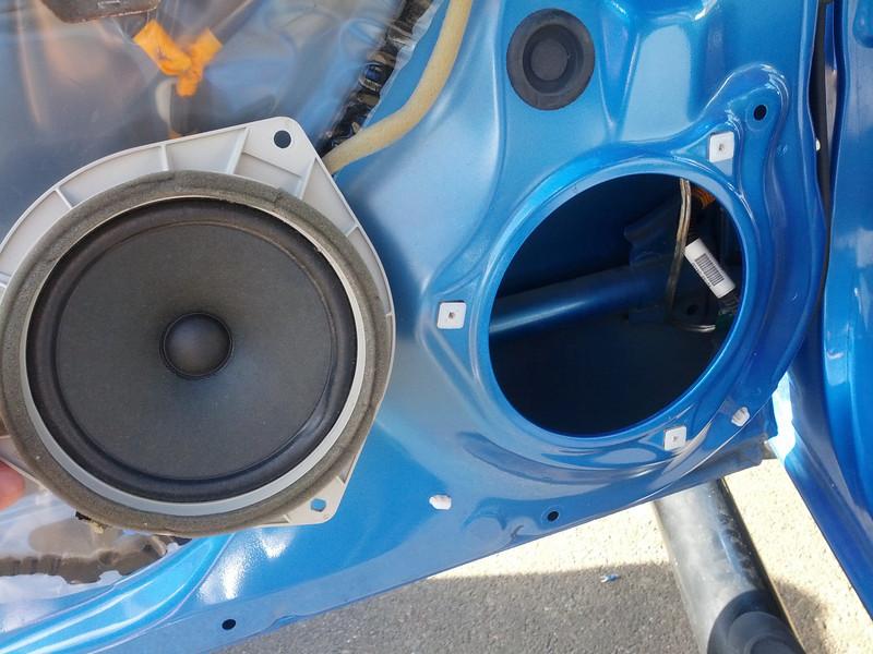 OEM speaker removed