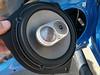 """Aftermarket speaker mounted to speaker adapter bracket  from  <a href=""""http://www.car-speaker-adapters.com/items.php?id=SAK036""""> Car-Speaker-Adapters.com</a>"""