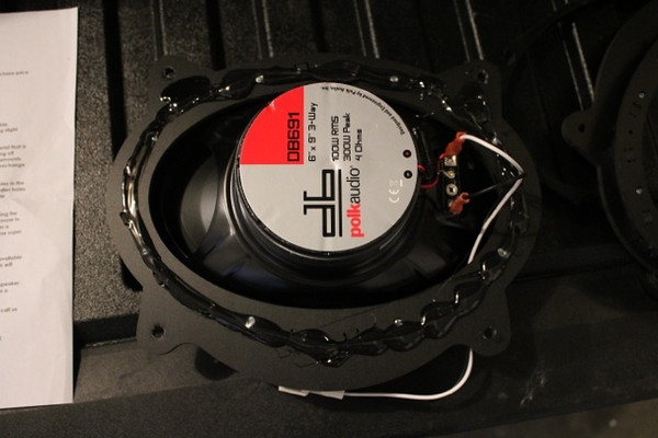 "Sealant applied to rear side of speaker adapter from   <a href=""http://www.car-speaker-adapters.com/items.php?id=SAK010""> Car-Speaker-Adapters.com</a>"
