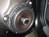 """Aftermarket speaker and speaker adapter   from  <a href=""""http://www.car-speaker-adapters.com/items.php?id=SAK010""""> Car-Speaker-Adapters.com</a>   (modified to fit rear of Toyota Tacoma) installed on door"""