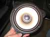 """Aftermarket speaker mounted to speaker adapter  from  <a href=""""http://www.car-speaker-adapters.com/items.php?id=SAK010""""> Car-Speaker-Adapters.com</a>   (modified to fit rear of Toyota Tacoma)"""